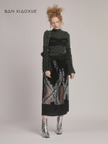 skirt Spring 2020 S,M,L Black, army green longuette commute other 25-29 years old BANXIAOXUE nylon