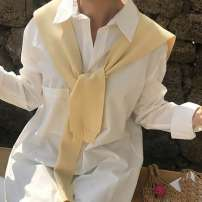 Scarf / silk scarf / Shawl other Black, yellow, off white, blue, bean paste green, black coarse white fine stripe, grass green, orange, skin powder, white coarse black fine stripe spring and autumn female Shawl multi-function Korean version other Solid color Less than 30%