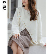 sweater Winter 2020 S M L White red Long sleeves Socket singleton  have cash less than that is registered in the accounts other 95% and above Crew neck Regular routine Solid color Straight cylinder 18-24 years old Qingjiaona QJN9475 Other 100% Pure e-commerce (online only)