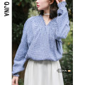 shirt royal blue S M L Spring 2021 other 96% and above Long sleeves commute Regular One word collar Socket lattice 18-24 years old Self cultivation Qingjiaona Korean version QJN178 Other 100% Pure e-commerce (online only)