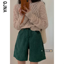 Wool knitwear Spring 2021 S M L Apricot Long sleeves singleton  Socket other More than 95% Regular routine commute easy Low crew neck routine Solid color Socket Korean version QJN9420 18-24 years old Qingjiaona Other 100% Pure e-commerce (online only)