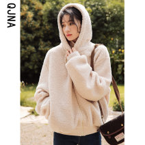 Cotton padded clothes S M L Winter 2020 Qingjiaona routine Long sleeves thickening zipper commute Hood routine Straight cylinder Solid color Korean version zipper 96% and above 18-24 years old Pure e-commerce (online only) Other 100%
