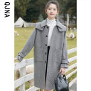 woolen coat Winter 2020 S M L XL Kagerhead other 95% and above Medium length Long sleeves commute Single breasted routine other lattice Straight cylinder Korean version Qingjiaona 18-24 years old Solid color Other 100% Pure e-commerce (online only)