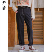 Casual pants black S M L Winter 2020 trousers loose  low-waisted commute routine 18-24 years old 96% and above Qingjiaona Korean version Other 100% Pure e-commerce (online only)