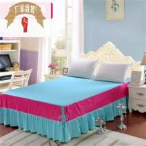 Bed skirt Solid color cotton Other / other Purple, pink, treasure blue, coffee gold, rouge 1, rose blue, bright orange, fruit green, rice bed skirt, fruit green, rose red, silver gray, dark blue, light camel