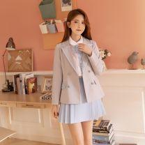 Gift bag / plastic bag 1163 light grey - short coat - in stock, 1163 two piece set = coat + skirt