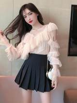 Fashion suit Spring 2020 One size fits all, s, m, l Apricot top, black skirt 18-25 years old Other / other