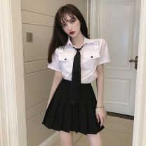 Fashion suit Spring 2021 S M L White shirt with tie black shirt with tie black skirt white lining with black suit black suit 18-25 years old Thousands of red clouds YMP8270# 96% and above polyester fiber Other polyester 95% 5% Pure e-commerce (online only)