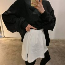 skirt Autumn 2020 L 110-150,M70-110 Gray, white, black, mouse, love, crescent moon, Dumbo, duck Short skirt Sweet A-line skirt Solid color Type A 18-24 years old other Other / other cotton Embroidery, stitching solar system