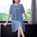 Dress Summer 2021 Picture color L XL 2XL 3XL 4XL 5XL Middle-skirt singleton  commute Crew neck middle-waisted Decor Socket A-line skirt routine 40-49 years old Type A Mu Yixin lady Button XBH6260 More than 95% other Other 100% Pure e-commerce (online only)