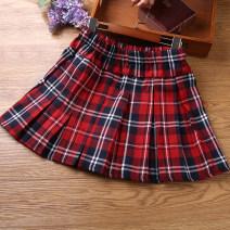 skirt 110cm,120cm,130cm,140cm,150cm,160cm,170cm Red sapphire blue grid, red green grid, red dark blue grid Other / other female Other 100% No season skirt college other cotton MTQ20310