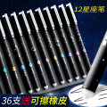 Roller ball pen 0.5mm 12 black Daily writing and drawing Erasable yes Needle tube type Block a Shot Leave grass
