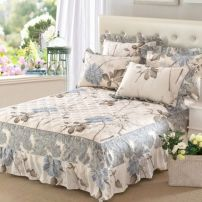 Bed skirt 120x200 single bed skirt, 150x200 single bed skirt, 180x200 single bed skirt, 180x220 single bed skirt, 200x220 single bed skirt, pillow case pair, single beat cotton Other / other Plants and flowers Qualified products JMCQ-002