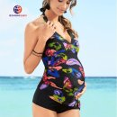 Split swimsuit other boxer With chest pad without steel support Nylon, spandex, polyester female V-neck