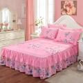 Bed skirt 2 pillowcases for bed skirt 1.2x2m, 2 pillowcases for bed skirt 1.5X2m, 2 pillowcases for bed skirt 1.8x2m, 2 pillowcases for bed skirt 1.8x2.2m and 2 pillowcases for bed skirt 2x2.2m silk Other / other Plants and flowers