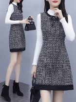 Cosplay women's wear Other women's wear goods in stock Over 14 years old Vest skirt, vest skirt + black sweater, vest skirt + white sweater comic S,M,L,XL,XXL