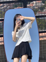 Fashion suit Summer 2021 S M L XL Single shirt single skirt shirt + skirt 18-25 years old Fairy dream cloud XM989 polyester fiber Other 100% Pure e-commerce (online only)