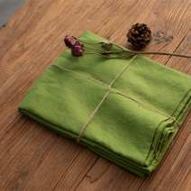 Fabric / fabric / handmade DIY fabric flax Moss green half rice price Loose shear piece Solid color printing and dyeing clothing Countryside Other / other 100%