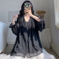 Yoga clothes Big XL, big L, big XXXL, big XXXXL, big XXL black female Other / other other currency Autumn and winter Including breast pad Other / other other Cardigan Long sleeves trousers