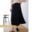 """skirt Spring 2021 S,M,L """"Classic black"""" quasi spot, """"champagne"""" quasi spot longuette commute Natural waist A-line skirt Solid color Type A 25-29 years old More than 95% Silk and satin Cellulose acetate"""