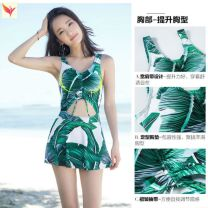 one piece  Other brands M [recommended weight 82-95 Jin], l [recommended weight 95-110 Jin], XL [recommended weight 110-125 Jin] With chest pad without steel support M21198 female Sleeveless Casual swimsuit
