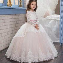 Children's dress White, pink female Other / other full dress Class A Three months, six months princess