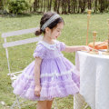 Dress lilac colour female Ziivaxxy / shoot 80cm 90cm 100cm 110cm 120cm 130cm Cotton 100% summer princess Short sleeve Solid color cotton Cake skirt ZY8065 Class A Summer 2021 12 months, 6 months, 9 months, 18 months, 2 years, 3 years, 4 years, 5 years, 6 years