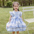 Dress wathet female Ziivaxxy / shoot 80cm 90cm 100cm 110cm 120cm 130cm Cotton 100% summer princess Skirt / vest Solid color cotton A-line skirt ZY8059 Class A Summer 2021 12 months, 6 months, 9 months, 18 months, 2 years, 3 years, 4 years, 5 years, 6 years Chinese Mainland