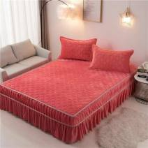 Bed skirt polyester fiber Ash purple-n60, magic red-c45, g-watermelon red-l54, dream purple-d59, hazy grey-k27, rose red-o75, t-dark green-p19, u-khaki-f11, dousha-d64 Other / other Solid color Qualified products A51810