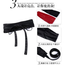 Belt / belt / chain Double skin leather red - D09 , black - J71 female Waistband Versatile Double loop Youth, youth Glossy surface alone Other / other lWMcKU20 100cm
