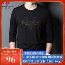 T-shirt Fashion City Style one [dark green], style one [black], style two [dark green], style two [black], style three [black] routine Pierre Cardin / Pierre Cardin Long sleeves Crew neck Super slim daily Four seasons middle age routine tide 2021 other No iron treatment