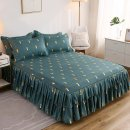 Bed skirt 120x200cm for matching 2 pillowcases, 180x200cm for matching 2 pillowcases, 150x200cm for matching 2 pillowcases, 180x220cm for matching 2 pillowcases, 200x220cm for matching 2 pillowcases cotton Other / other Plants and flowers First Grade 0609t-616177559987