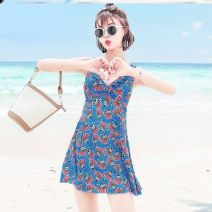 Split swimsuit Other Blue, black, pink, rose, dark blue, color ho 2XL - [weight 130-145 Jin], 3XL - [weight 145-160 Jin], 4XL - [weight 160-175 Jin] boxer With chest pad without steel support spandex H39658