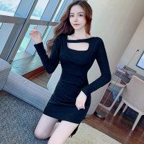 Dress Autumn 2020 black S,XL,L,M Short skirt singleton