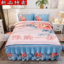 Bedding Set / four piece set / multi piece set cotton other Plants and flowers 128x68 Other / other cotton 4 pieces 40 1.5m (5 ft) bed, 1.8m (6 ft) bed, 2.0m (6.6 ft) bed Bed cover type, bed skirt type, bed cover type First Grade Simplicity 100% cotton Reactive Print
