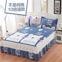 Bed skirt cotton Wolf's nest Plants and flowers Qualified products