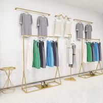 Clothing display rack Length 100 * 40 * 160, length 120 * 40 * 170, length 150 * 40 * 170, straight-line wall hanging, bag rack, lightning wall hanging, front hanging, length 100 * 40 * 170, length 120 * 40 * 160, length 150 * 40 * 160 Metal Other / other Official standard