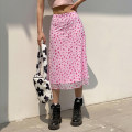 skirt Summer 2021 S,M,L Pink longuette street High waist A-line skirt Decor Type A 18-24 years old KGWBD11464 91% (inclusive) - 95% (inclusive) other cotton Printing, 3D Europe and America