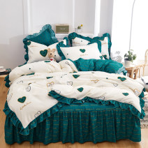 Bedding Set / four piece set / multi piece set Polyester (polyester fiber) other Plants and flowers other Qian Shiwei Polyester (polyester fiber) 4 pieces other Simplicity other
