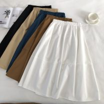 T-shirt White, black, peacock blue, khaki, coffee Other / other Average size female Versatile other Solid color 3 months