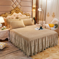 Bed skirt 150x200cm bed skirt, 180x200cm bed skirt, 180x220cm bed skirt, 200x220cm bed skirt, 150x200cm bed skirt + pillow case, 180x200cm bed skirt + pillow case, 180x220cm bed skirt + pillow case, 200x220cm bed skirt + pillow case Others Nepenthes Solid color Qualified products wychengai985cjx