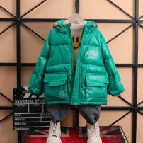 Down Jackets 110cm,120cm,130cm,140cm,150cm,160cm 70% Duck down male Other / other Black, green, dark gray, pearl white, clear green, atmospheric black, elegant black polyester Medium length No detachable cap Zipper shirt Solid color ZJ letter down jacket Class B Other 100% leisure time