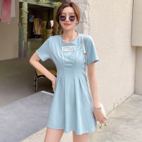 Dress Summer 2021 White, gray, blue S,M,L,XL Other / other