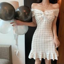Dress Summer 2020 white S,M,L Short skirt singleton  Sweet 585#
