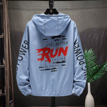 Jacket SFSX Youth fashion Ss1918 light blue ss1918 white M L XL 2XL 3XL routine easy Other leisure autumn SS1918 New polyester fiber 100% Long sleeves Wear out Hood tide teenagers routine zipper No iron treatment Closing sleeve polyester fiber Summer 2021 printing Side seam pocket polyester fiber
