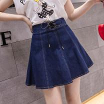 skirt Summer of 2019 S,M,L,XL,2XL Short skirt commute High waist A-line skirt other Type A 18-24 years old 91% (inclusive) - 95% (inclusive) Denim Ocnltiy cotton Korean version