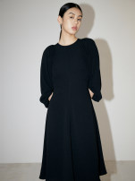 Dress Spring 2021 Black, yellow S,M,L longuette singleton  Long sleeves commute V-neck High waist Solid color Socket A-line skirt puff sleeve Others 25-29 years old Type A Curefor Simplicity S41101117 71% (inclusive) - 80% (inclusive) polyester fiber