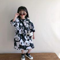 Dress Panda dress (in stock), panda shirt (in stock), black radish leg pants (in stock), bigger than bigger, panda mosquito proof pants female Other / other 90cm,100cm,110cm,120cm,130cm,140cm Other 100% spring and autumn Korean version Long sleeves Cartoon animation cotton A-line skirt -