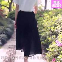 Casual pants XL,L,S,M,XXL Summer of 2018 Ninth pants Wide leg pants High waist Versatile Thin money 18-24 years old Other / other