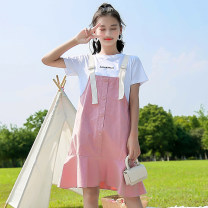 Dress female Other / other 120cm,130cm,140cm,150cm,160cm,170cm Other 100% summer Korean version Strapless skirt Solid color other Lotus leaf edge QZ Class B 3 months Chinese Mainland